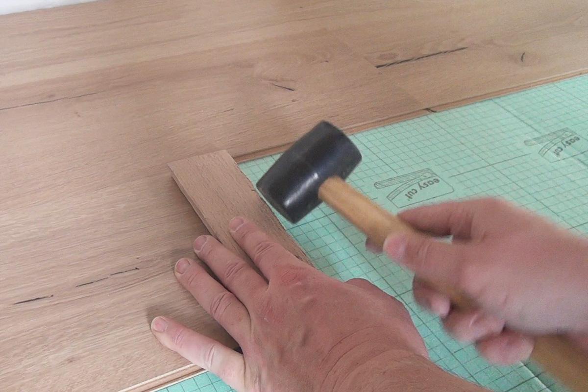 laminatboden verlegen - klick-laminat auf trockenestrich - anleitung