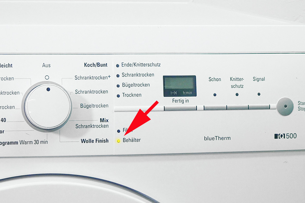 Siemens wärmepumpentrockner: behälter leeren blinkt anleitung