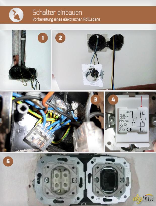 schalter einbauen vorbereitung eines elektrischen. Black Bedroom Furniture Sets. Home Design Ideas