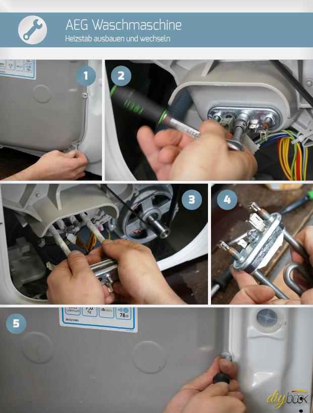 Aeg Waschmaschine Heizstab Ausbauen Und Wechseln Reparatur
