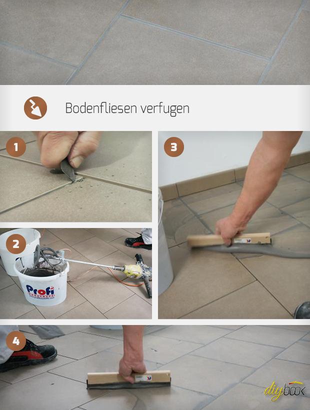 Bodenfliesen Verfugen Anleitung Diybookat - Fliesenboden verfugen