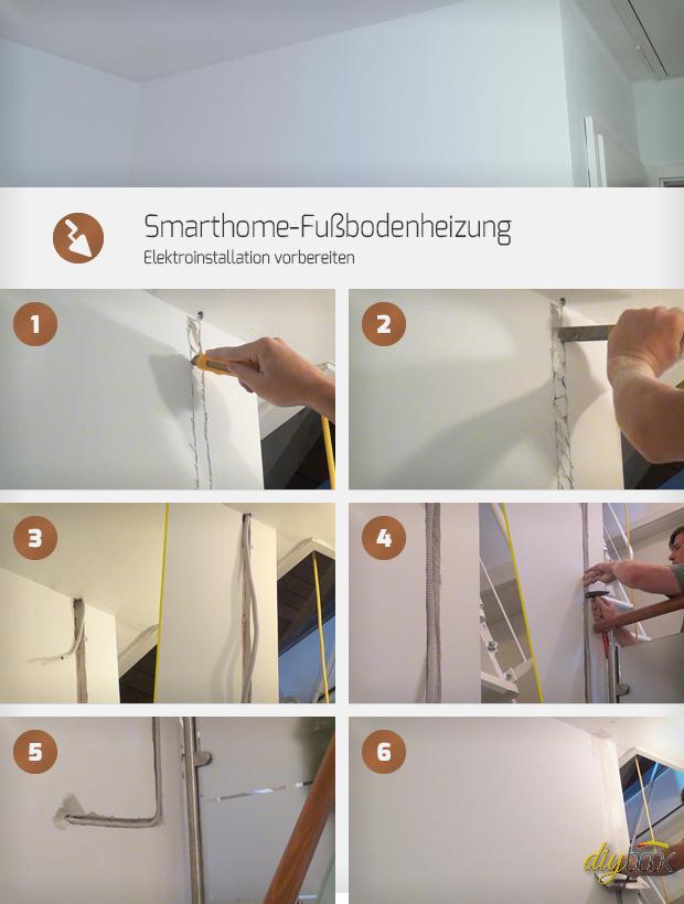 Smarthome Fussbodenheizung Elektroinstallation Vorbereiten