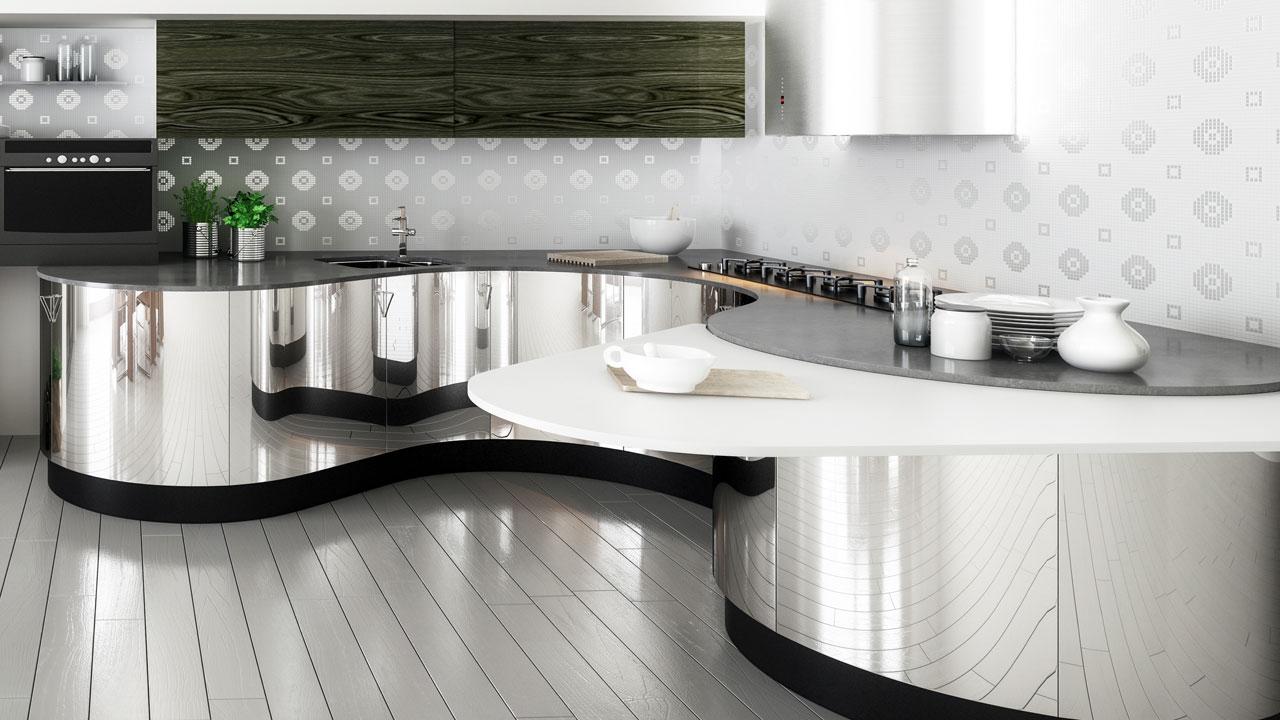 moderne k che edelstahloberfl chen richtig reinigen in wohnen ratgeber. Black Bedroom Furniture Sets. Home Design Ideas