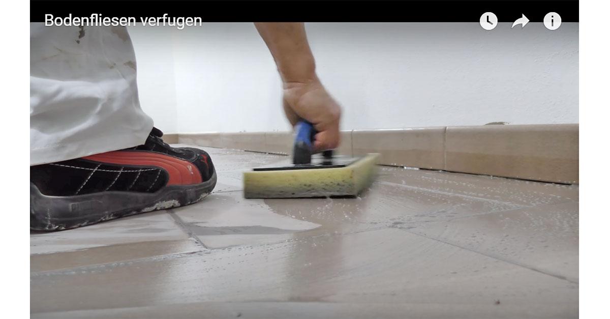 Fußboden Fliesen Neu Verfugen ~ Bodenfliesen richtig verfugen video anleitung @ diybook.at