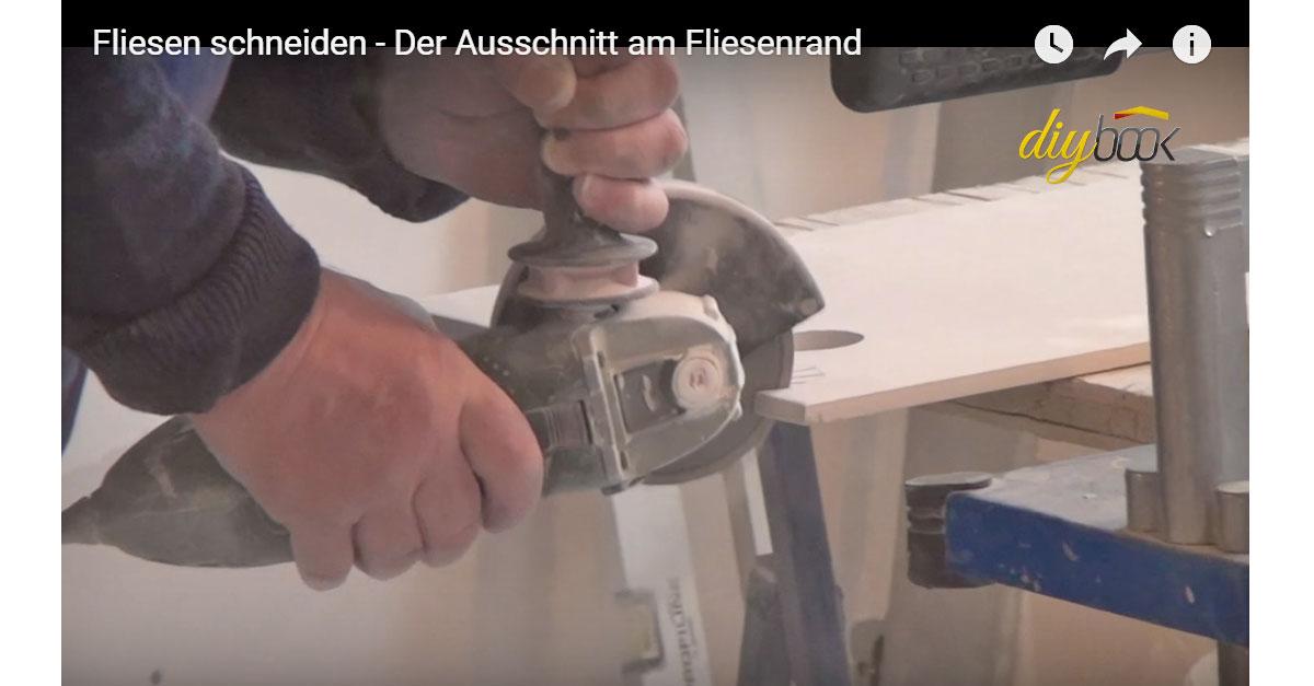 Fliese Rund Schneiden Der Ausschnitt Am Fliesenrand Video - Fliesen verputzen video