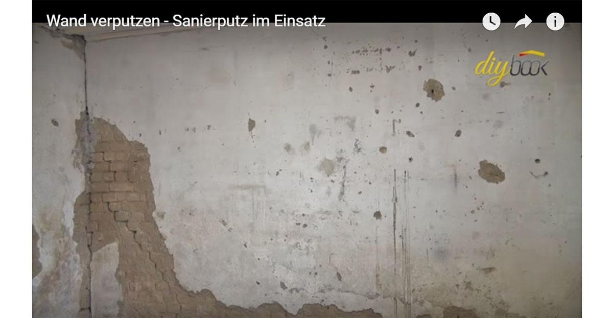 Sehr Wand verputzen: Sanierputz im Einsatz | Video-Anleitung @ diybook.at YW45