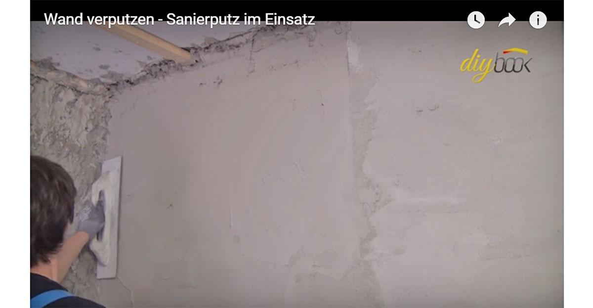 Wand verputzen sanierputz im einsatz video anleitung - Wande verputzen material ...