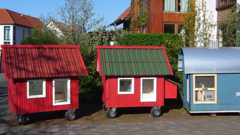 tierliebe auf r dern das h hnerhaus mobil in bauen wohnen garten. Black Bedroom Furniture Sets. Home Design Ideas