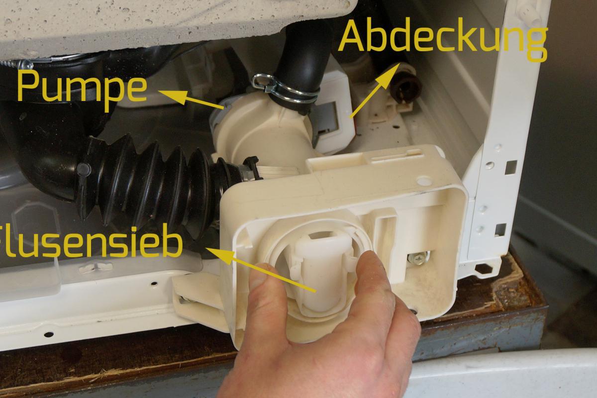 Relativ AEG Waschmaschine - Pumpe wechseln. Reparatur-Anleitung @ diybook.at FK33