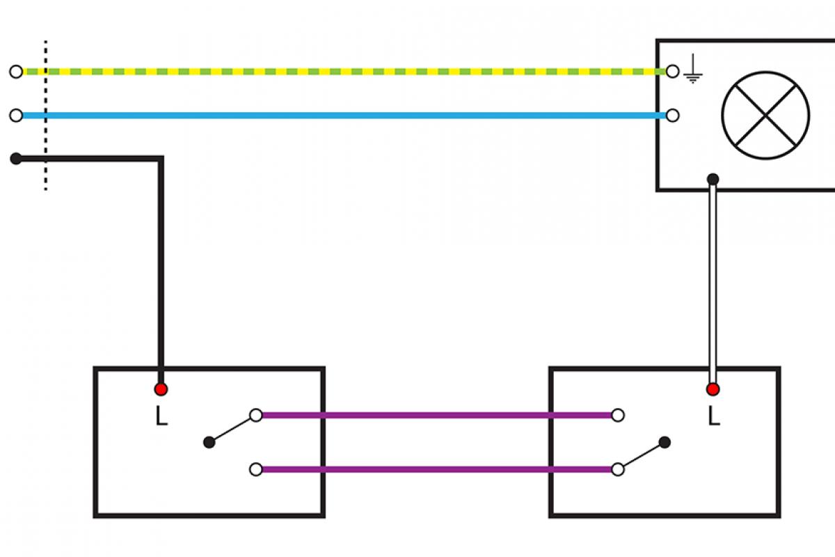 wechselschaltung mit 2 lampen und steckdose