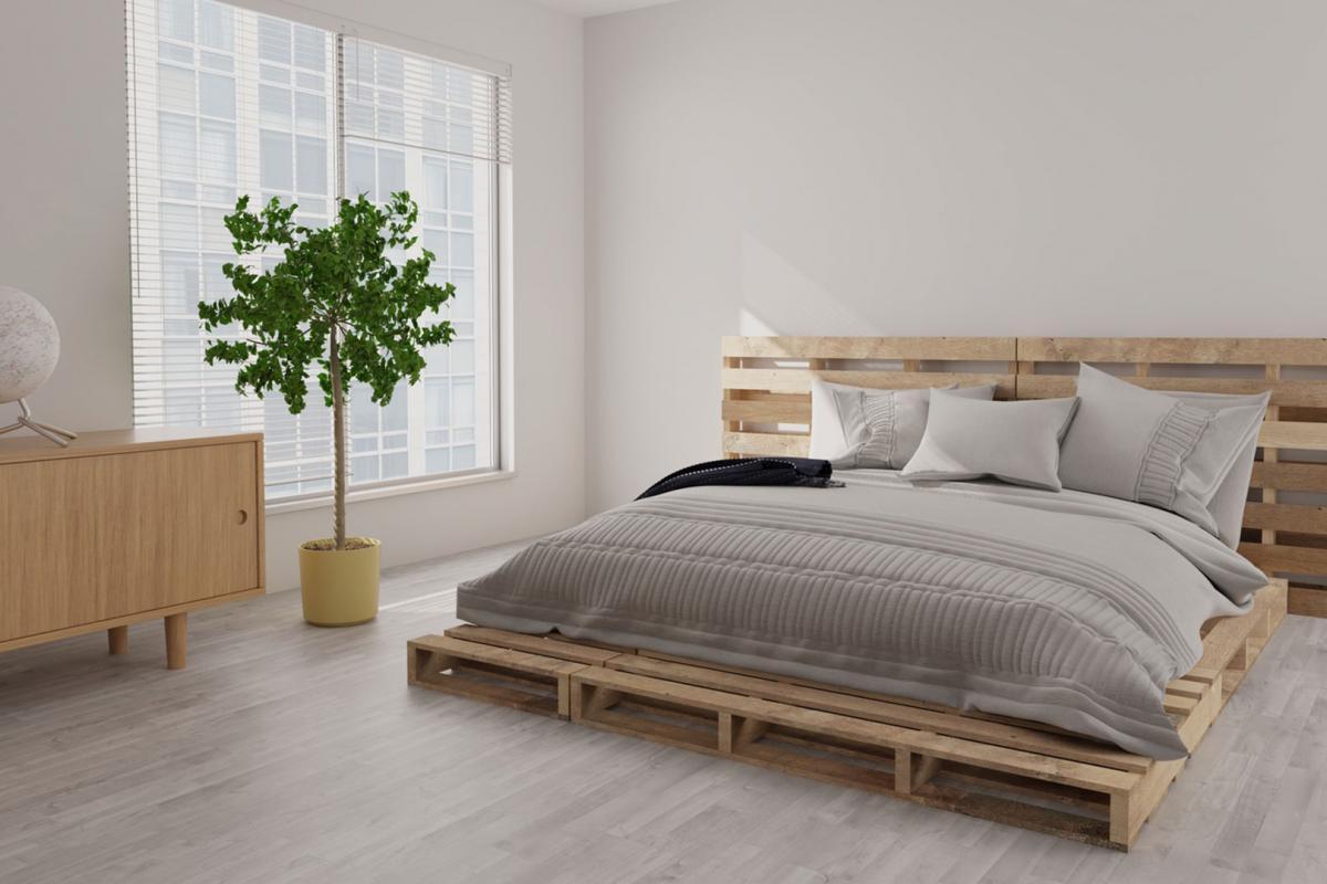 DIY-Schlafzimmer: Ein Bett aus Paletten selber bauen ...