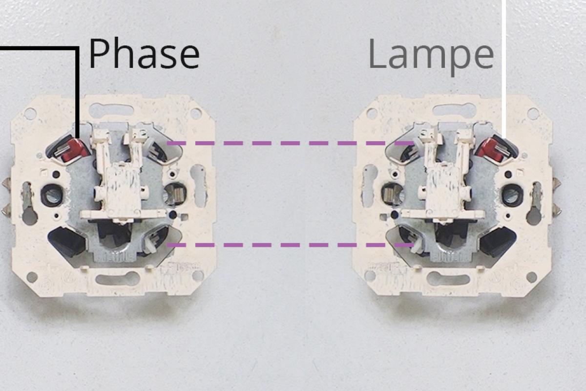 wechselschaltung mit 2 lampen und steckdose schaltplan
