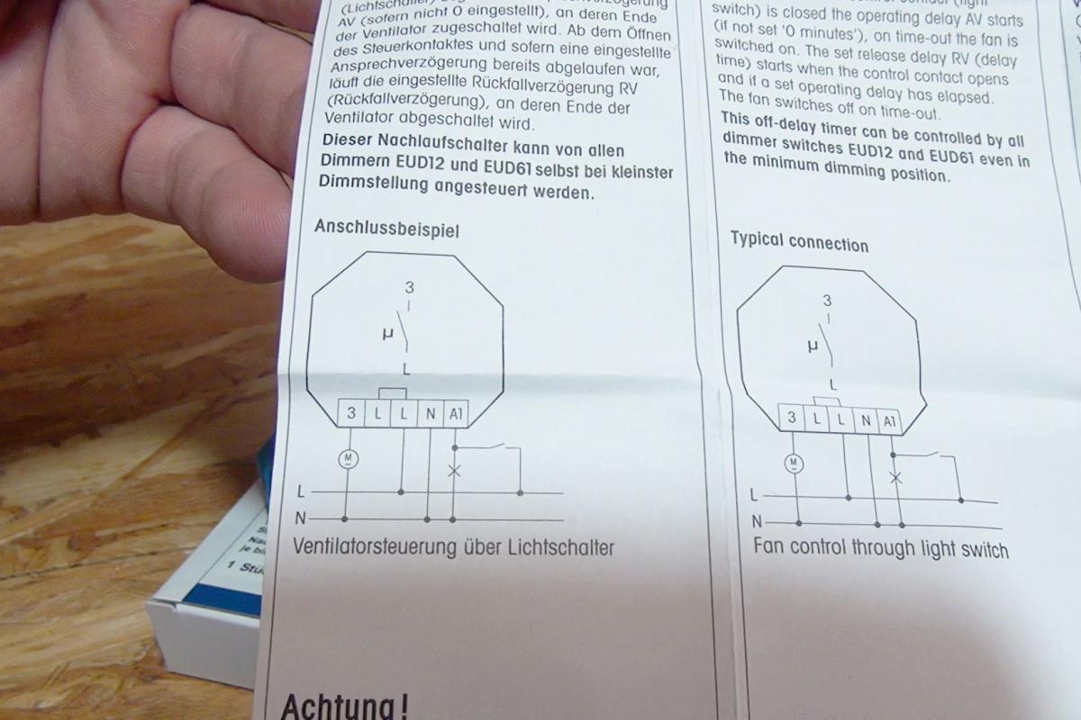 Super Badlüfter: Nachlaufrelais anschließen - Anleitung @ diybook.at MR38