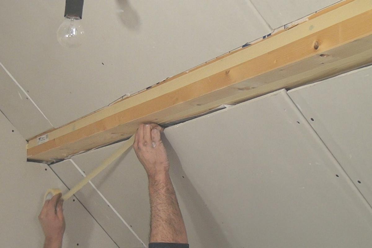 Gut gemocht Gipskarton an Holzbalken spachteln - Anleitung @ diybook.at NP25