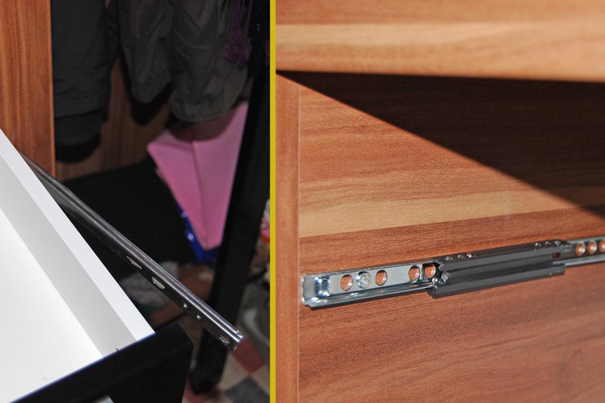 Beliebt Schublade ausbauen - Neue Schubladenschienen montieren - Anleitung HJ81