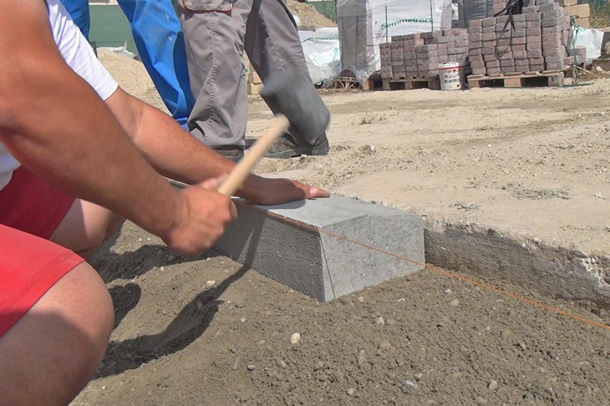 Extrem Randsteine setzen - Anleitung um Betonrandsteine zu verlegen SF08