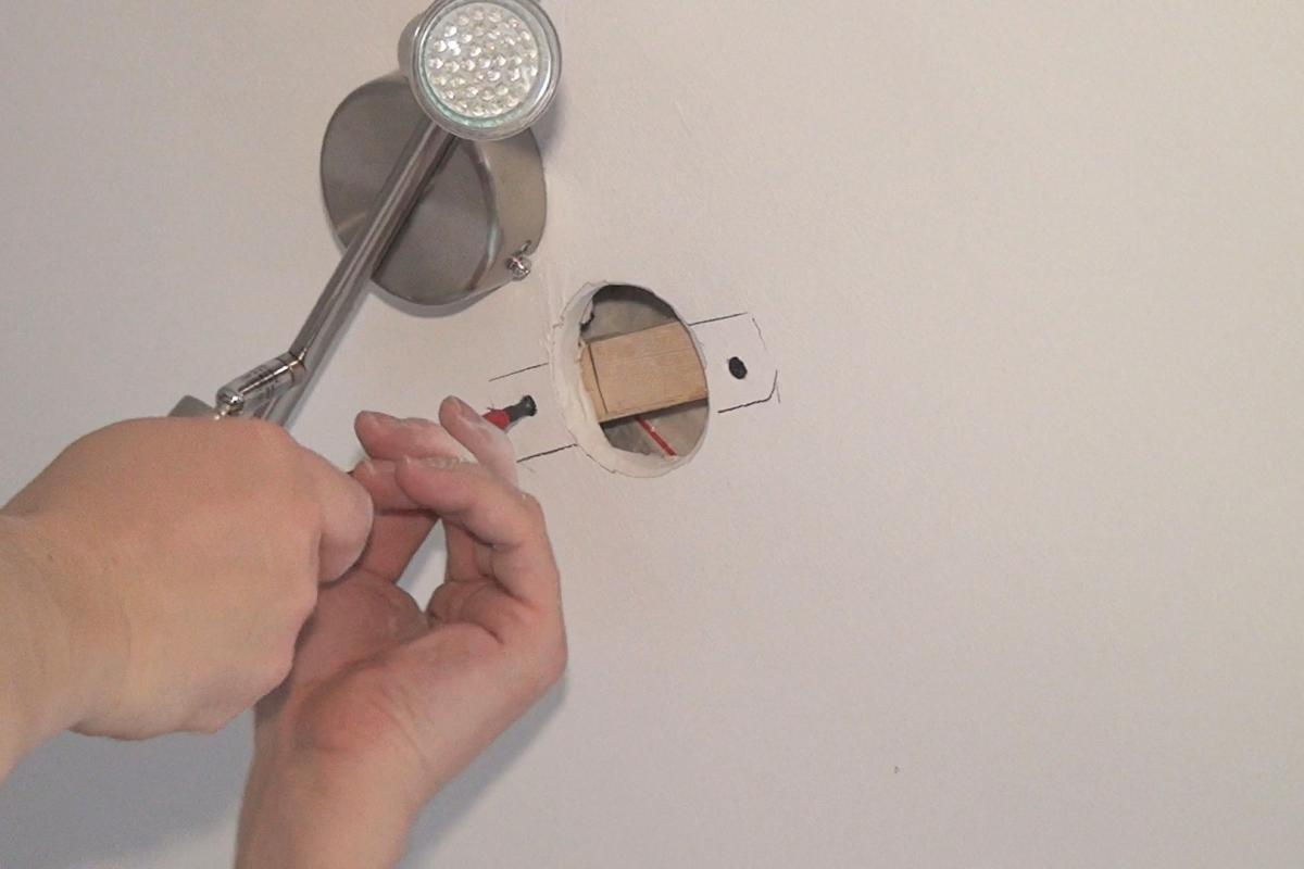 löcher für lampen in rigips