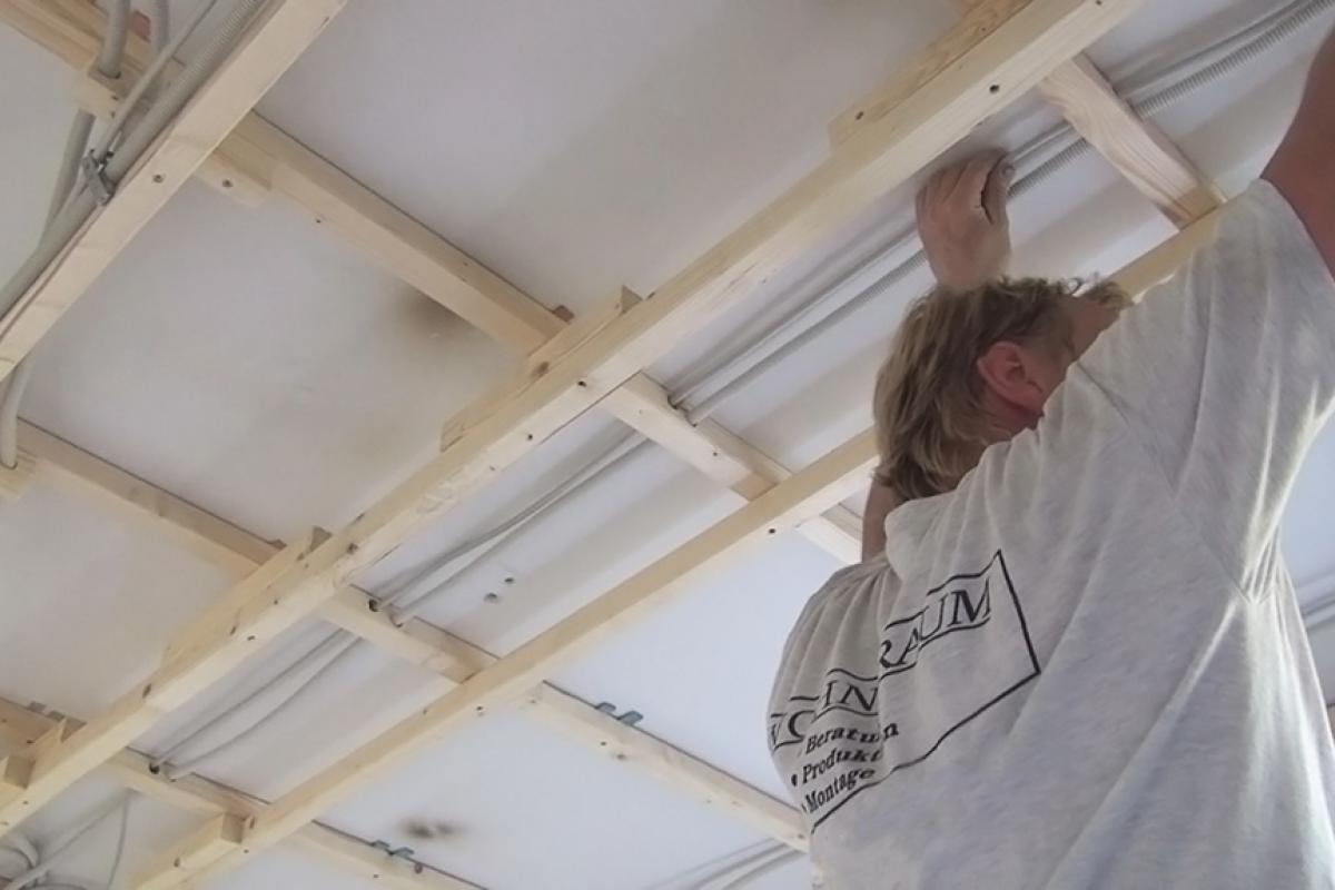 Decke Abhängen Holzkonstruktion Herstellen Anleitung Tipps Vom