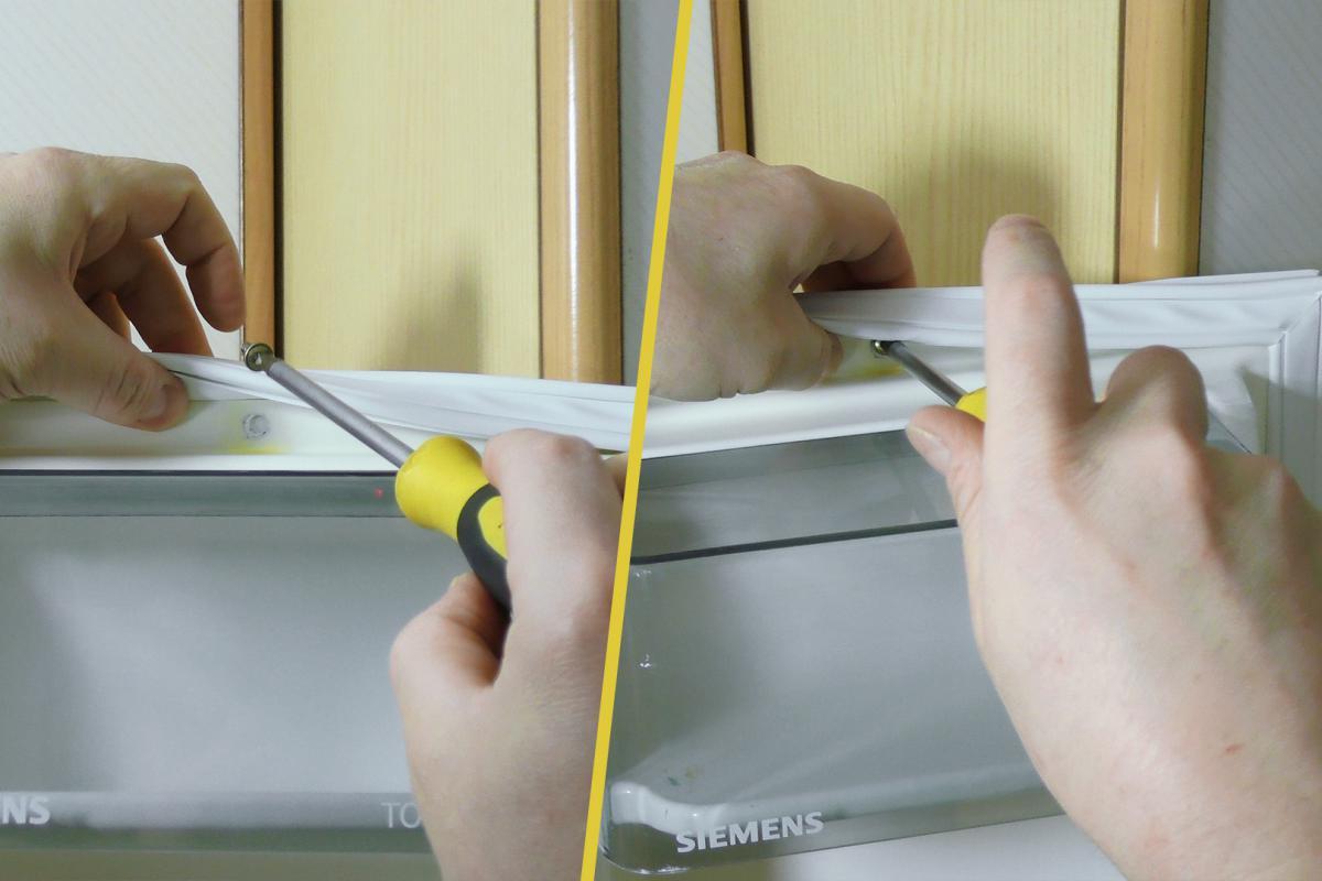 Super Kühlschrankdichtung wechseln - Türdichtung - Anleitung @ diybook.at ZR14