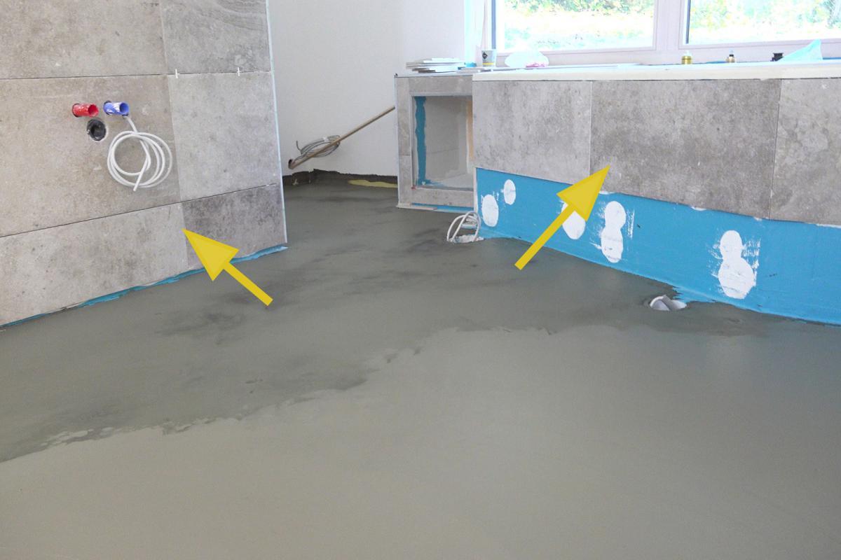 Badezimmer Boden Abdichten