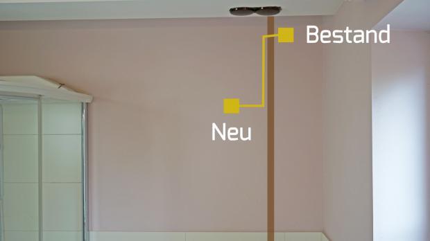 Anschluss Der Neuen Steckdose An Die Vorhandene Elektroinstallation