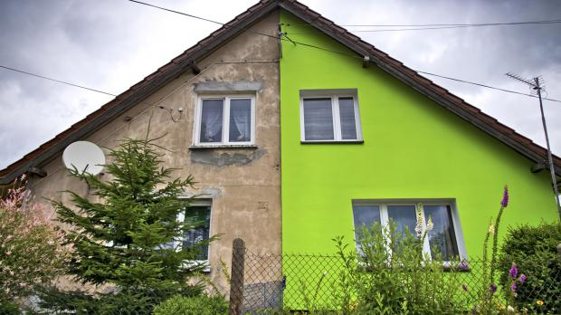 Alte Haushälfte und modernisierte Haushälfte