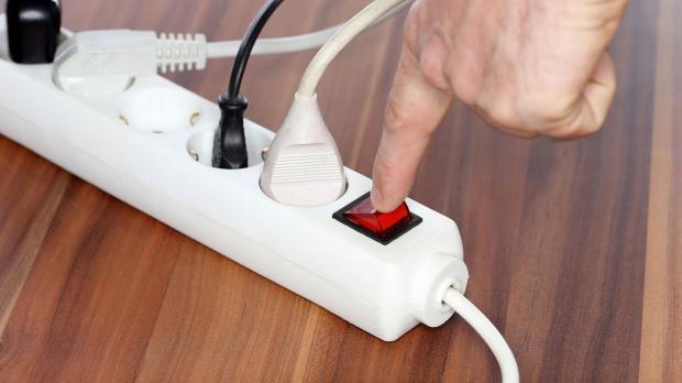 Kippschalter an Steckleiste hilft beim Stromsparen