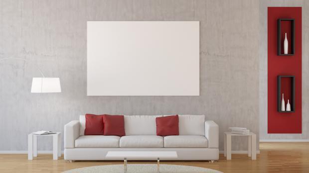 Wohnzimmer Mit Rotem Akzent