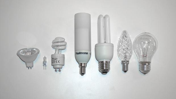 Reihenweise Leuchtmittel