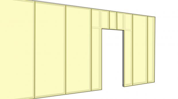 Vertikale Beplankung - Beispiel 1