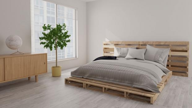 Palettenbett ohne Matratze