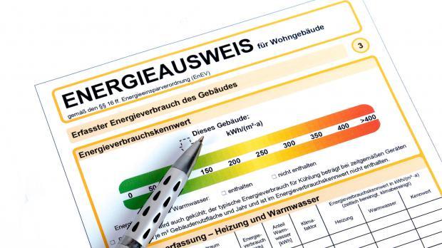 Energieausweis in der Nahansicht