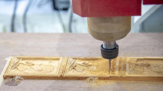 Werkstück in der CNC-Fräse