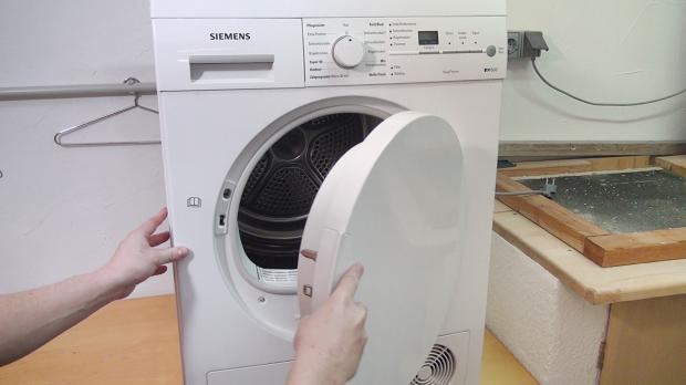 Flusensieb von der waschmaschine reinigen filter von