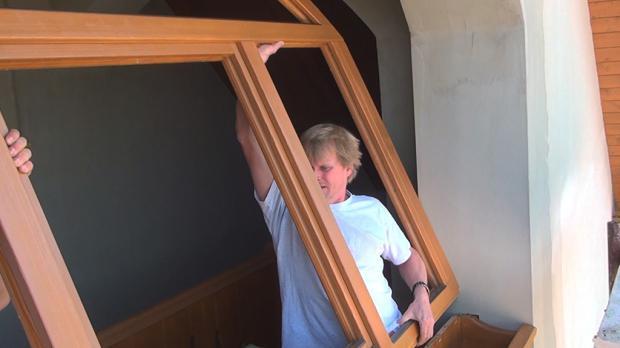 Arkadenfenster einheben