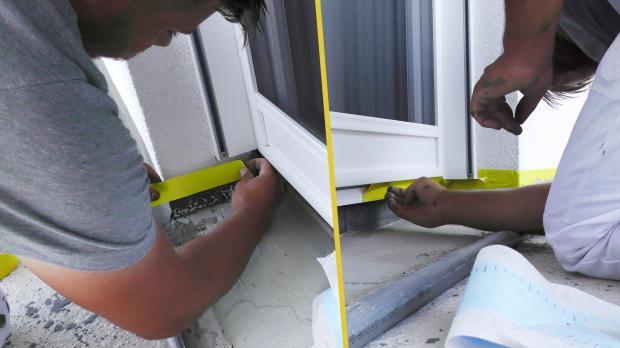 Außentüren abkleben