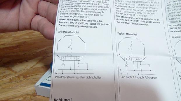 Badlüfter: Nachlaufrelais anschließen - Anleitung @ diybook.at