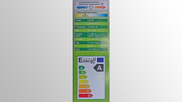 Herstellerinformationen einer Lampe