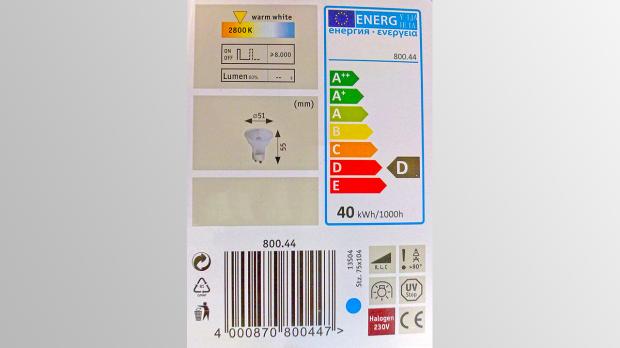 Energieeffizenz-Klassen von Lampen
