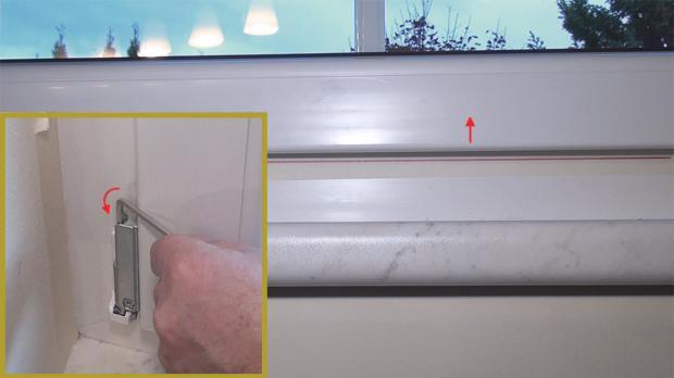 Fenster parallel in der Höhe verstellen