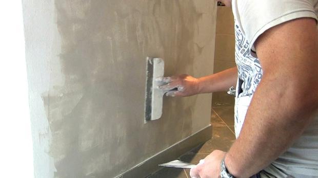 Betonwand Verputzen betonwand spachteln moderne glasdusche in betonbad with putz auf
