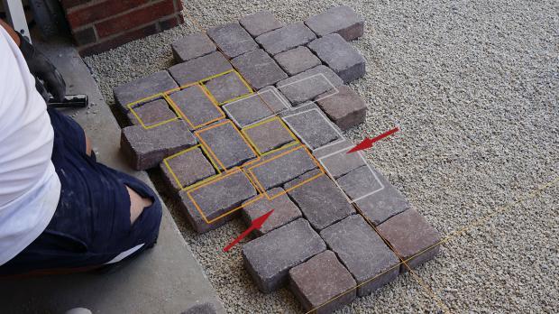 garageneinfahrt pflastern - anleitung zum betonpflaster verlegen, Garten seite