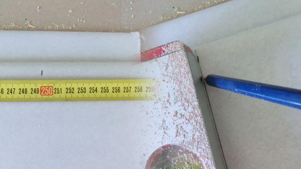 Raumhöhe auf Rigipsplatte übertragen