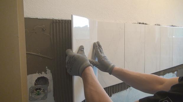 Fliesen Legen - Eine Wand Halbhoch Verfliesen - Anleitung @ Diybook.At