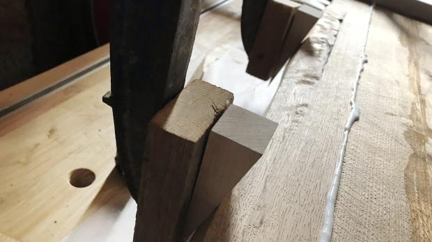 Baumkante verleimen