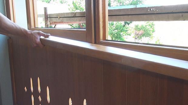 Innere Fensterbank auflegen