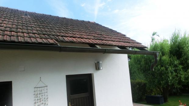 Abgebautes Terrassen-Vordach