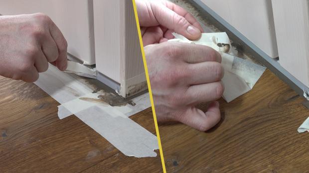 Malerkrepp nach Abschluss der Arbeiten entfernen