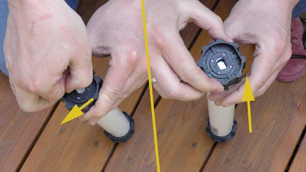 Wellenadapter vom neuen Rollladenmotor abziehen
