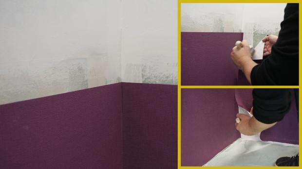 ecken tapezieren anleitung stunning so lassen sich echte montieren screenshot diybook with. Black Bedroom Furniture Sets. Home Design Ideas
